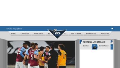 What Eplsite.football website looks like in 2021