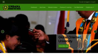 What Elearning.undana.ac.id website looks like in 2021