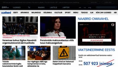 What Err.ee website looks like in 2021