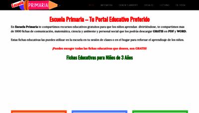 What Escuelaprimaria.net website looks like in 2021
