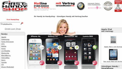 What First-handyshop.de website looked like in 2012 (9 years ago)