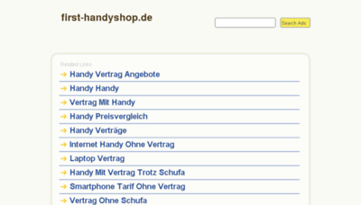 What First-handyshop.de website looked like in 2014 (7 years ago)