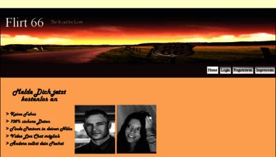 What Flirt66.de website looked like in 2014 (6 years ago)