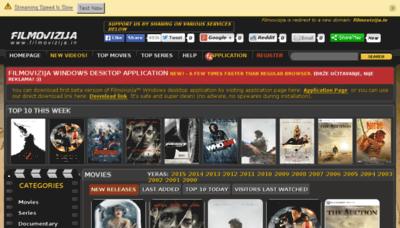 What Filmovizija.in website looked like in 2015 (6 years ago)