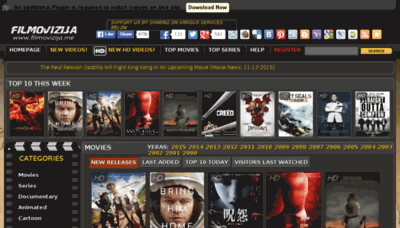 What Filmovizija.in website looked like in 2015 (5 years ago)