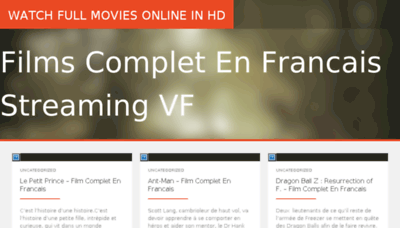 What Film-complet.net website looked like in 2016 (5 years ago)
