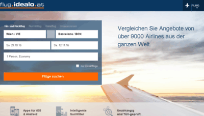 What Flug.idealo.at website looked like in 2016 (4 years ago)