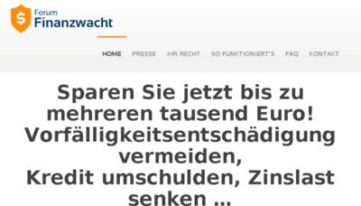 What Finanzwacht.de website looked like in 2017 (4 years ago)