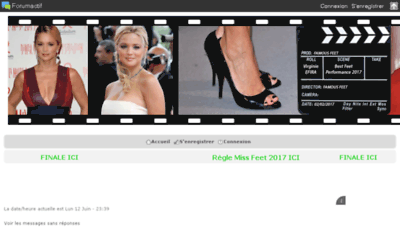What Famous-feet.forumactif.org website looked like in 2017 (4 years ago)