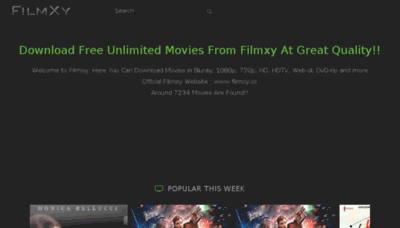 What Filmxy.cc website looked like in 2017 (4 years ago)