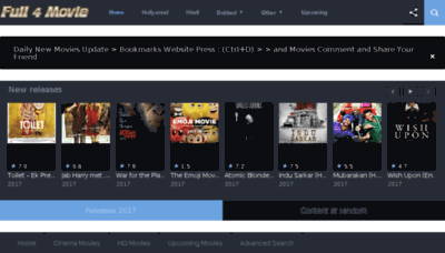 What Full4movies.cc website looked like in 2017 (3 years ago)