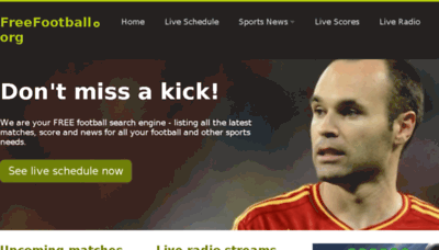 What Freefootball.org website looked like in 2017 (3 years ago)