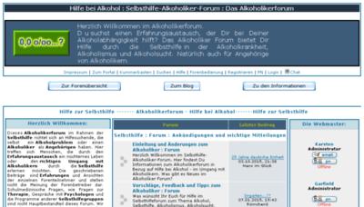 What Forum-alkoholiker.de website looked like in 2018 (3 years ago)