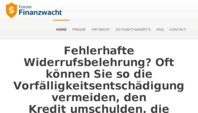 What Finanzwacht.de website looked like in 2018 (3 years ago)