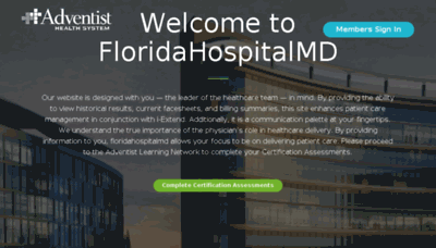 What Floridahospitalmd.org website looked like in 2018 (3 years ago)
