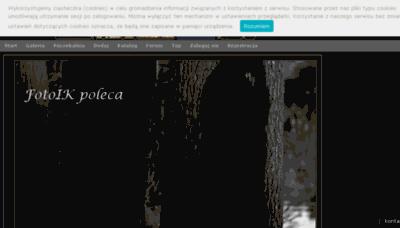 What Fotoik.pl website looked like in 2018 (3 years ago)