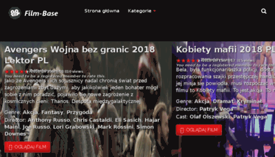 What Film-base.pl website looked like in 2018 (3 years ago)