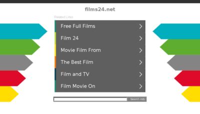 What Films24.net website looked like in 2018 (3 years ago)