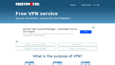 What Freevpn4you.net website looked like in 2018 (2 years ago)