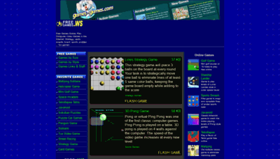 What Freegames.ws website looked like in 2019 (2 years ago)