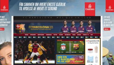 What Fcbarcelona.dk website looked like in 2019 (2 years ago)