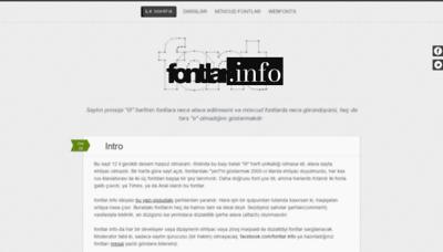 What Fontlar.info website looked like in 2019 (2 years ago)