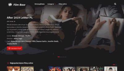 What Film-base.pl website looked like in 2019 (2 years ago)