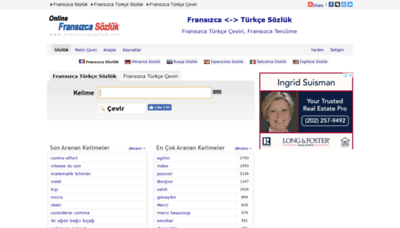 What Fransizcasozluk.net website looked like in 2019 (1 year ago)