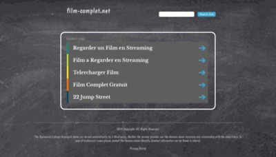 What Film-complet.net website looked like in 2019 (1 year ago)