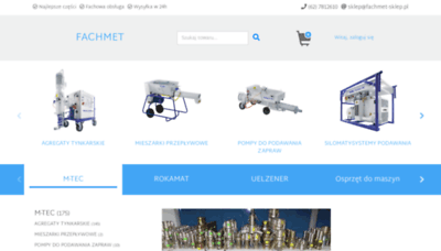 What Fachmet-sklep.pl website looked like in 2019 (1 year ago)