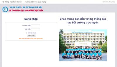 What Fitel.hnue.edu.vn website looked like in 2019 (1 year ago)