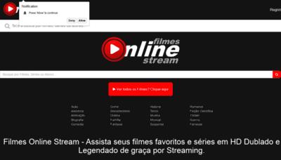 What Filmesonline.stream website looked like in 2019 (1 year ago)