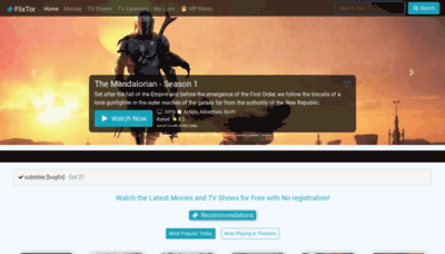 What Flixtor.ac website looked like in 2019 (1 year ago)