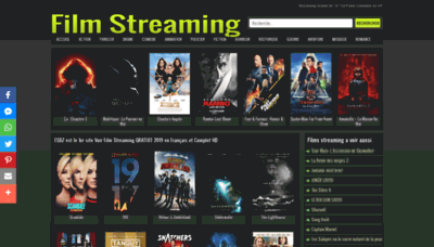 What Film-streaming.bz website looked like in 2020 (1 year ago)