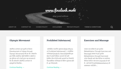 What Finalank.mobi website looked like in 2020 (1 year ago)