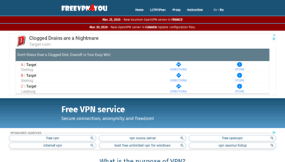 What Freevpn4you.net website looked like in 2020 (1 year ago)