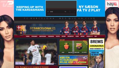 What Fcbarcelona.dk website looked like in 2020 (1 year ago)