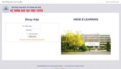 What Fitel.hnue.edu.vn website looked like in 2020 (1 year ago)