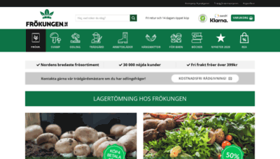 What Frokungen.se website looked like in 2020 (1 year ago)