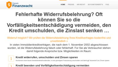 What Finanzwacht.de website looked like in 2020 (1 year ago)