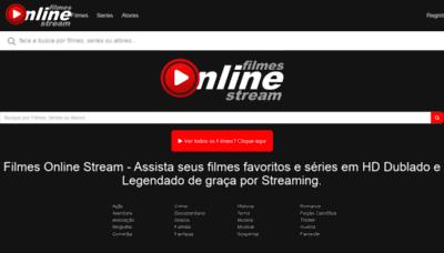 What Filmesonline.stream website looked like in 2020 (1 year ago)