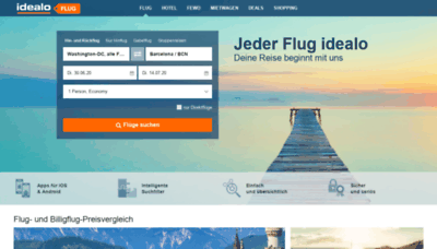 What Flug.idealo.at website looked like in 2020 (1 year ago)