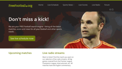 What Freefootball.org website looked like in 2020 (1 year ago)