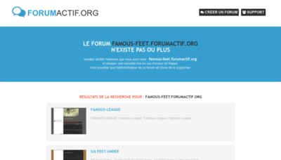 What Famous-feet.forumactif.org website looked like in 2020 (1 year ago)