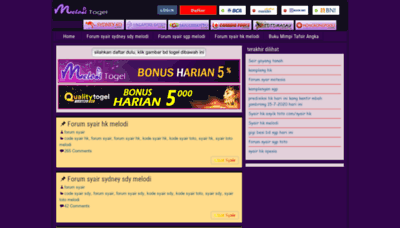 What Forumsyair.xyz website looked like in 2020 (This year)