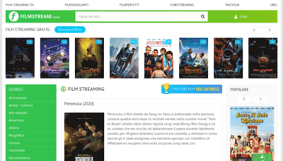 What Filmstream.cloud website looked like in 2020 (1 year ago)