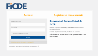 What Ficdevirtual.org website looked like in 2020 (This year)