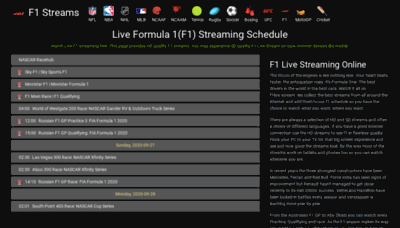 What F1stream.me website looked like in 2020 (This year)