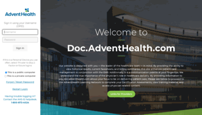 What Floridahospitalmd.org website looked like in 2020 (1 year ago)
