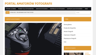 What Fotoik.pl website looked like in 2020 (This year)